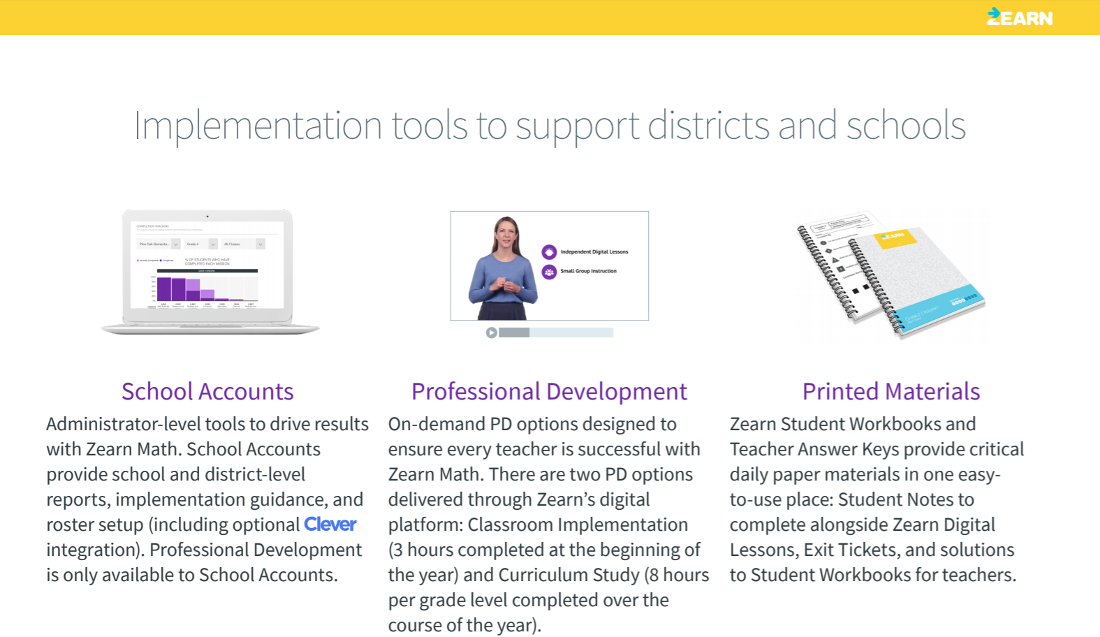 Implementation tools - Zearn